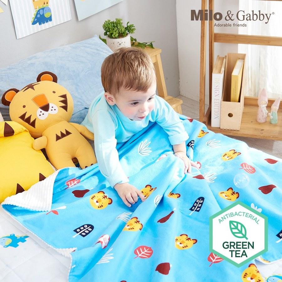 Milo & Gabby 動物好朋友-雙面寶寶棉蓋毯(TOM花園)