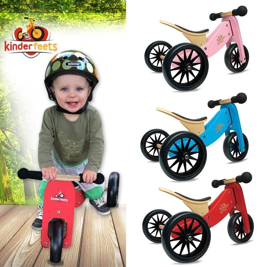 Kinderfeets 美國木製平衡滑步車/教具車-初心者三輪系列(四色任選)