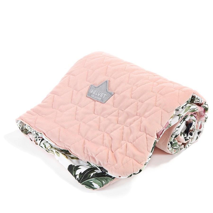 La Millou Velvet頂級棉柔系列雙面柔柔毯(加大款)-伯爵粉茶花-舒柔嫩粉