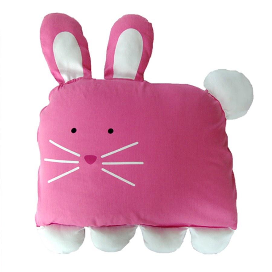 Milo & Gabby 動物好朋友-超細纖維防蟎大枕心+枕套組(LOLA兔兔)