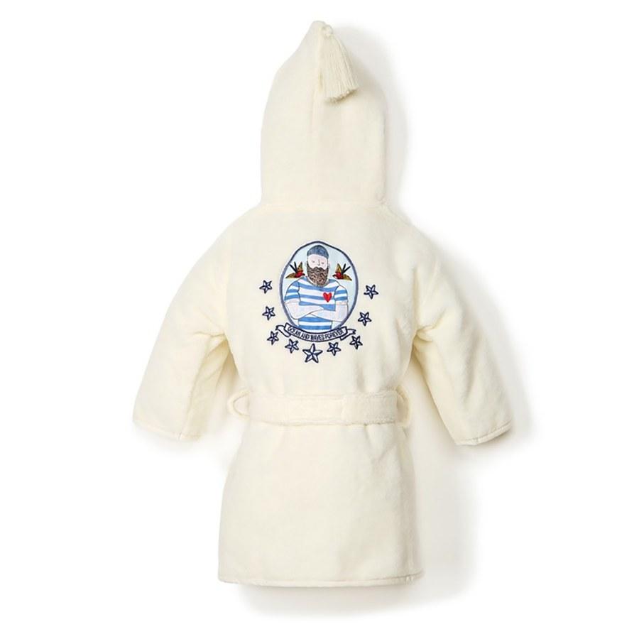 La Millou Jersey 時尚篷篷睡袍浴袍_標準6M-2.5Y- 大力水手(雲朵白)