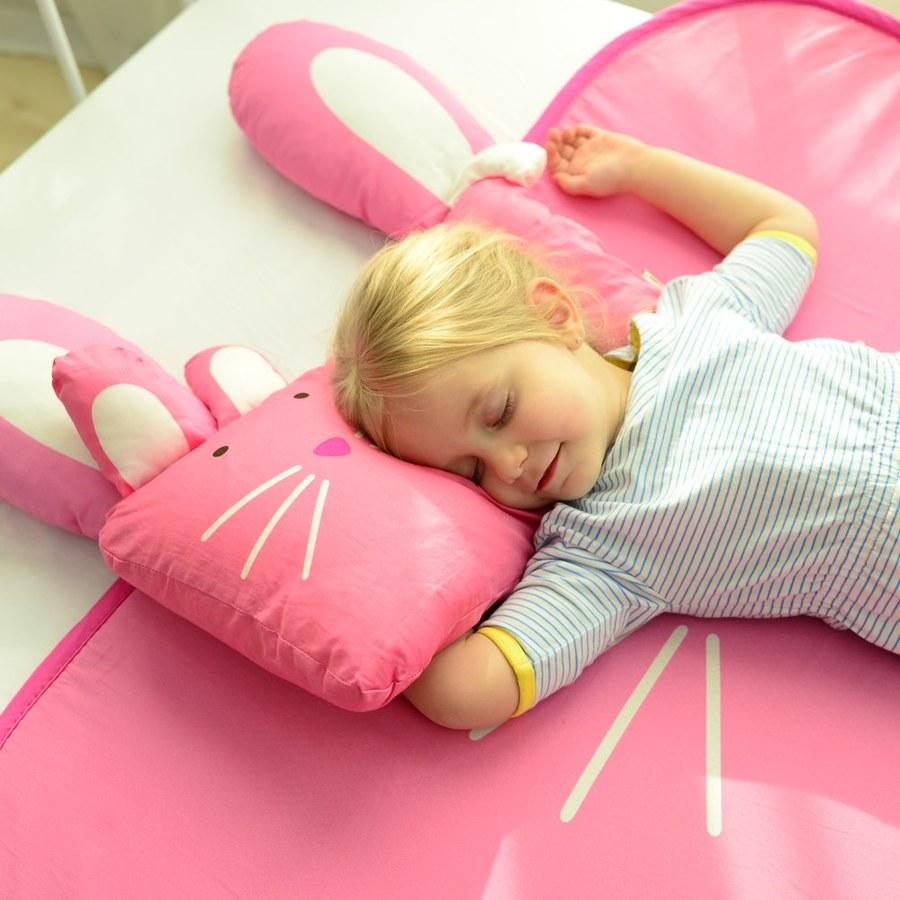 Milo&Gabby 動物好朋友-超舒柔防蟎抗菌床墊-遊戲墊(Lola兔兔)