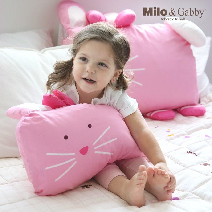 【此商品為預購品,於4/10起出貨】Milo & Gabby 動物好朋友-超細纖維防蹣抗菌mini枕心+枕套組(LOLA芭蕾舞兔兔)