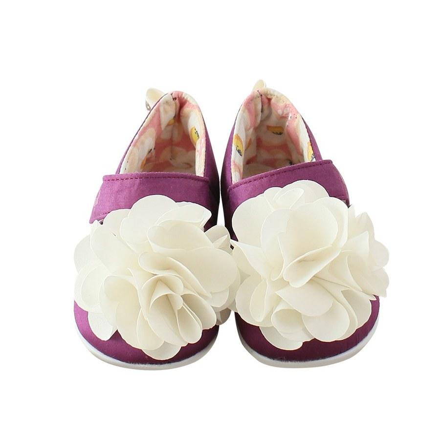 【萌夏穿搭】Kinderspel 公主粉精靈-造型純棉髮帶+棉花糖休閒學步鞋(花朵-粉紅蛋苞花+紫紅蛋苞花)