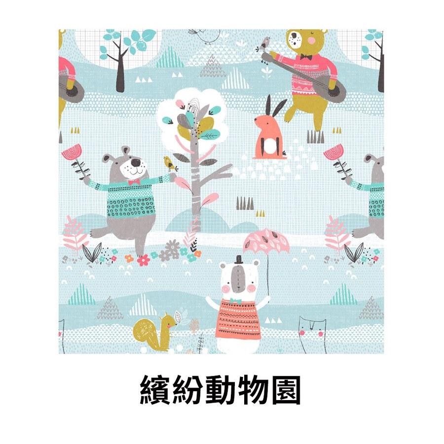 【韓國 lolbaby】Rayon防靜電輕薄柔軟床墊-繽紛動物園
