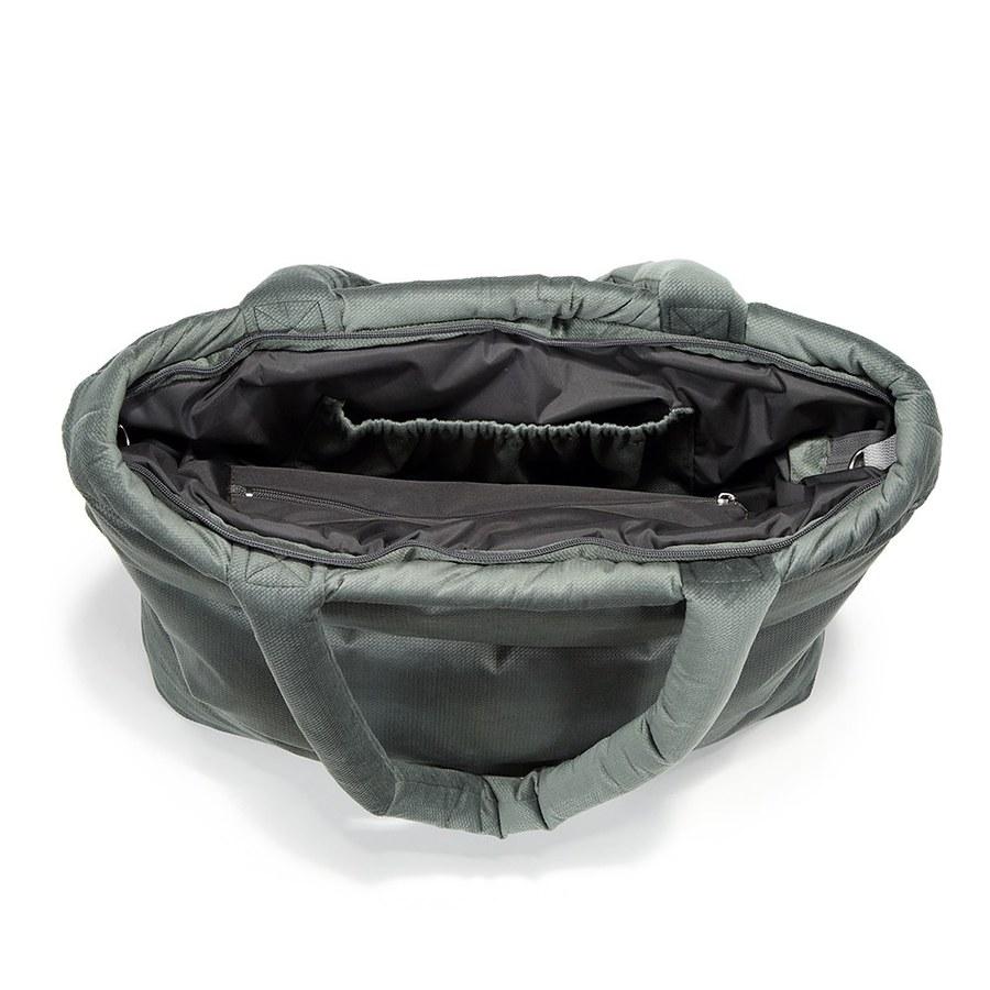 La Millou Aspen防水空氣時尚媽媽購物包-舒柔墨綠