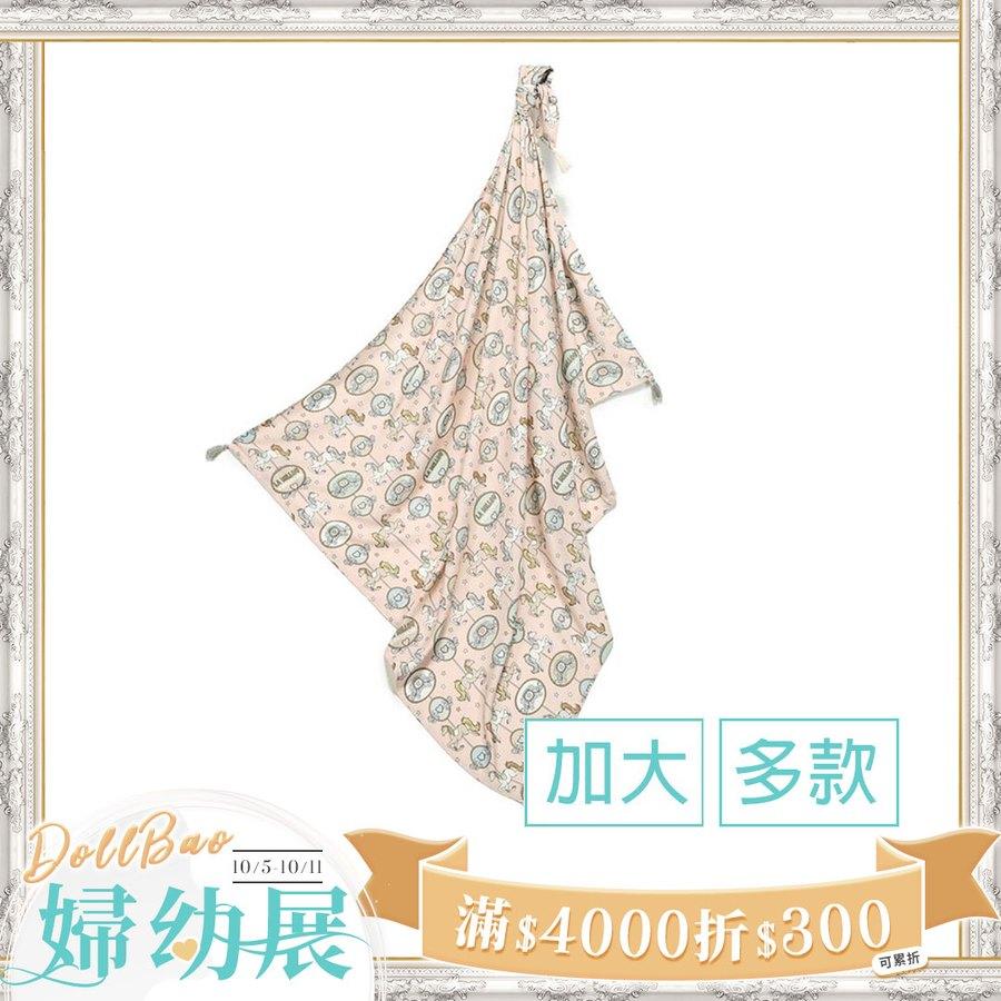 La Millou 包巾-竹纖涼感巾-加大-星空胖柯基(藍底)