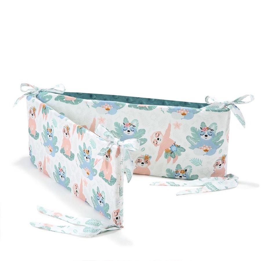 La Millou 拉米洛100%純棉床圍護欄-瑜珈珈樹懶(藍綠愛琴海)