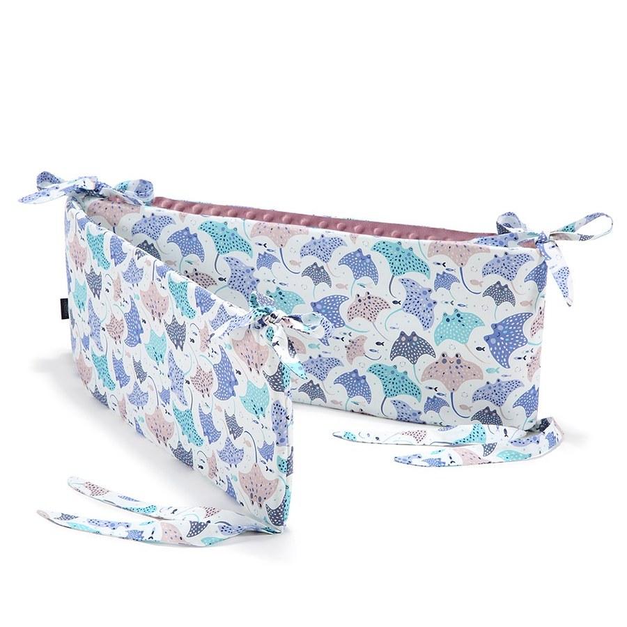 La Millou 拉米洛100%純棉床圍護欄-微笑彩魟魚(法式香檳紫)