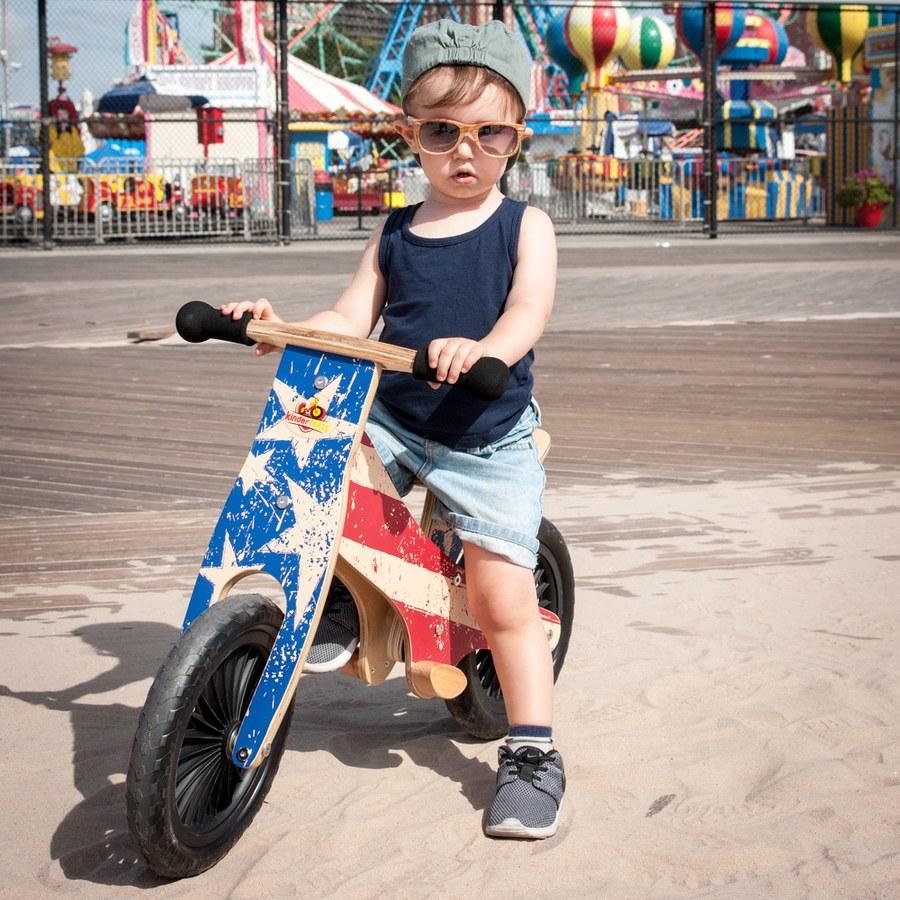 Kinderfeets 美國木製平衡滑步車/教具車-英雄聯盟系列(多款可選)