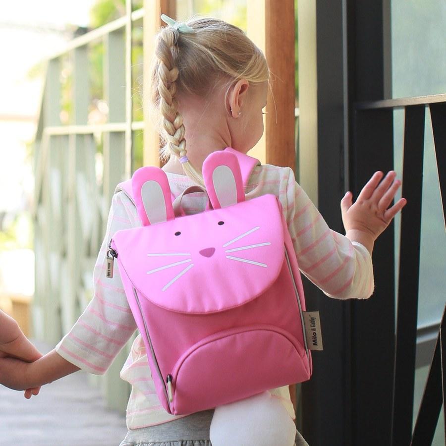 Milo & Gabby 動物好朋友-超吸睛輕量型小童書包/防走失包(LOLA兔兔)