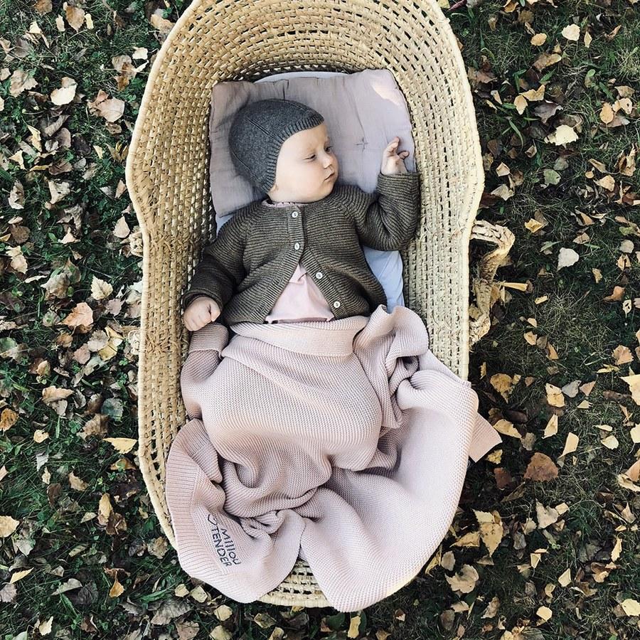 La Millou Tender針織毯-夢幻珊瑚粉