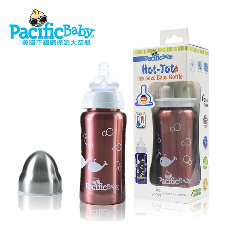 Pacific Baby 美國不鏽鋼保溫太空瓶7oz (貼心紅)