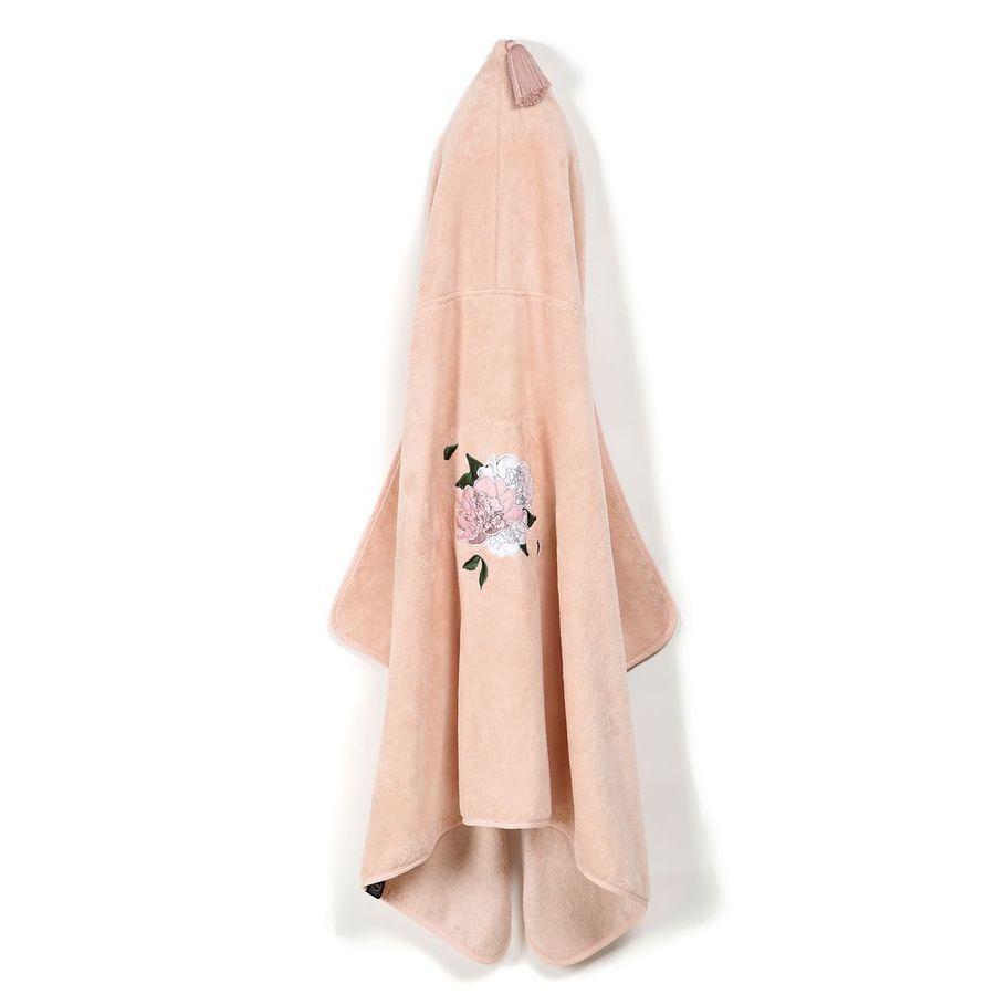 La Millou Jersey時尚篷篷浴巾_加大2Y-8Y- 格格牡丹花(夢幻珊瑚粉)