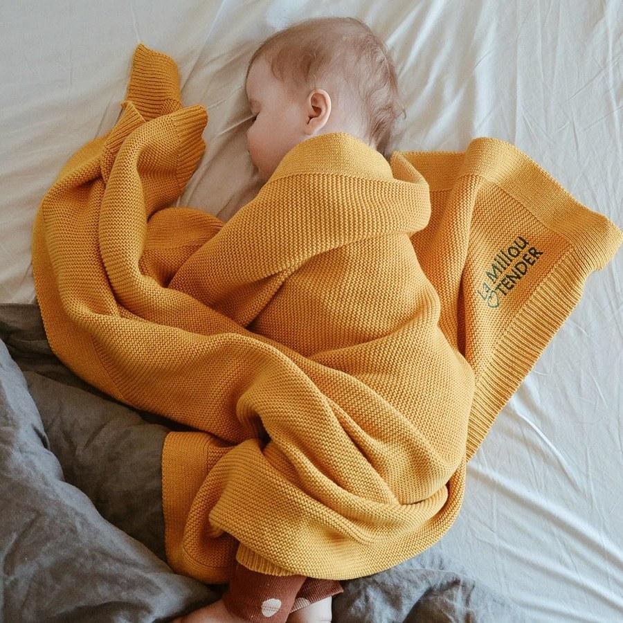 La Millou Tender針織毯-清恬芒果黃