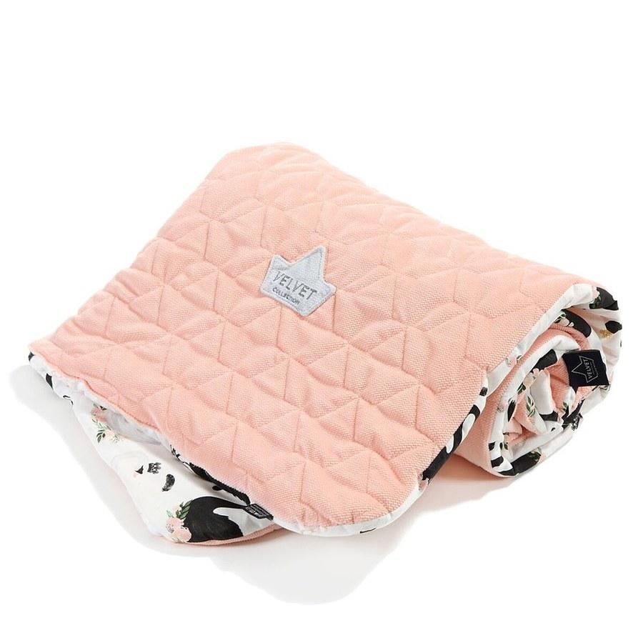 La Millou Velvet頂級棉柔系列雙面柔柔毯(加大款)-芭蕾舞天鵝-舒柔嫩粉