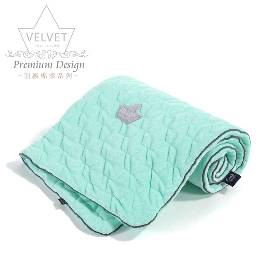 La Millou Velvet頂級棉柔系列-標準款柔柔毯80x100cm(舒柔綠)