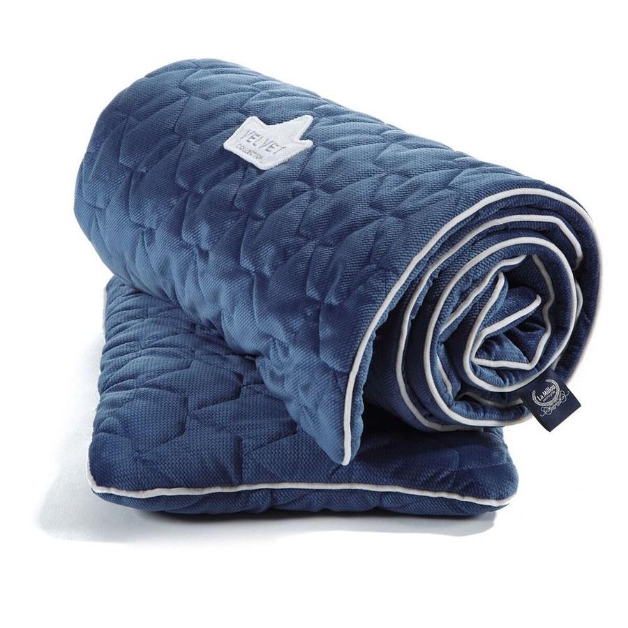 La Millou Velvet頂級棉柔系列-標準款柔柔毯80x100cm(舒柔藏青)