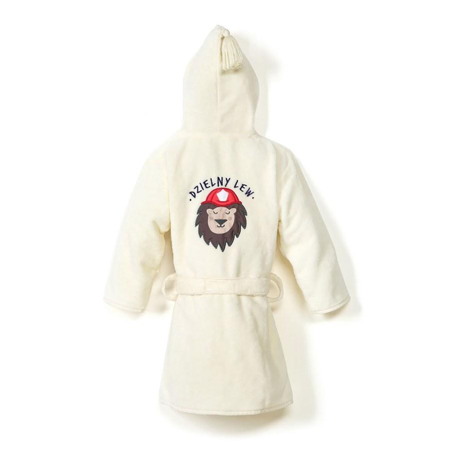 La Millou 時尚篷篷睡袍浴袍_加大2.5-5Y- 打火小英雄(雲朵白)