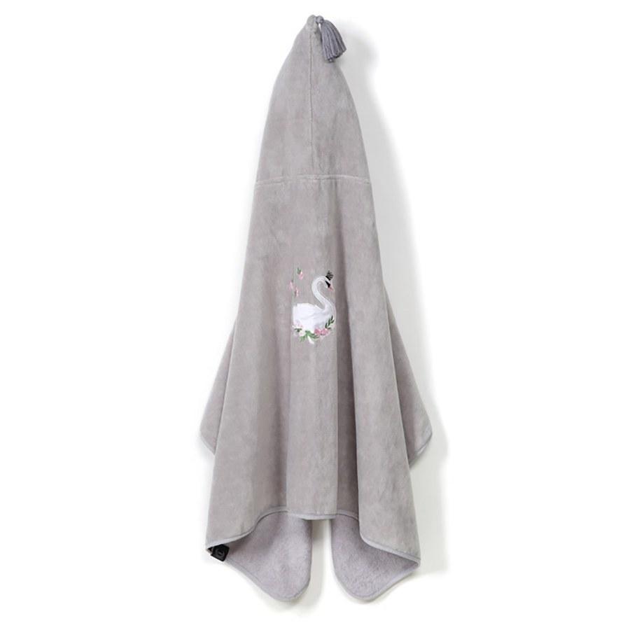 La Millou Jersey時尚篷篷浴巾_加大2Y-8Y- 芭蕾舞天鵝(銀河星空灰)