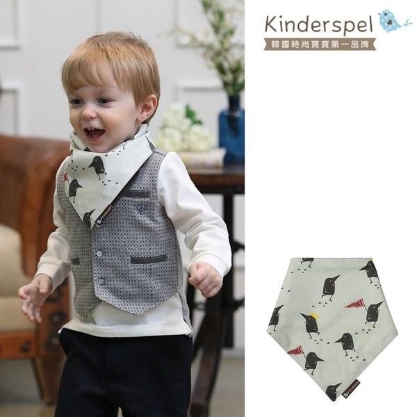 Kinderspel 繽紛時尚‧有機棉圍兜領巾 (黑鳥探險家)