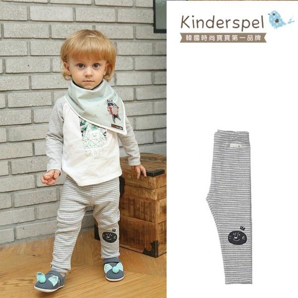 Kinderspel 內搭褲(條紋灰)
