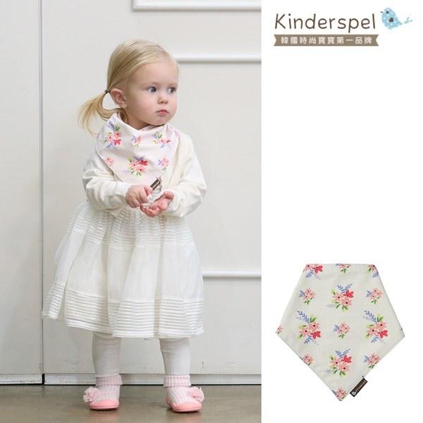 Kinderspel 繽紛時尚‧有機棉圍兜領巾 (公主花園)