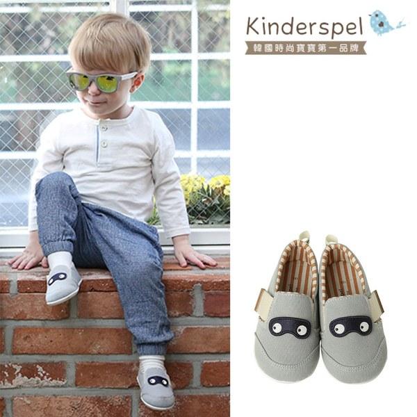 Kinderspel 輕柔細緻.郊遊趣休閒學步鞋(寶寶特攻隊_粉藍)