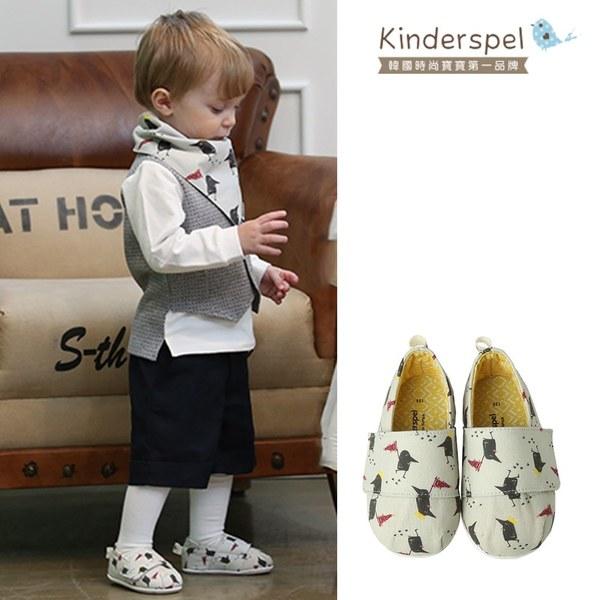 Kinderspel 輕柔細緻.郊遊趣休閒學步鞋(黑鳥探險家)