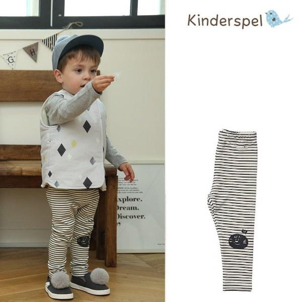 Kinderspel 內搭褲(條紋黑)