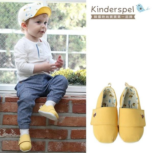Kinderspel 輕柔細緻.郊遊趣休閒學步鞋(蛋黃小蜜蜂)