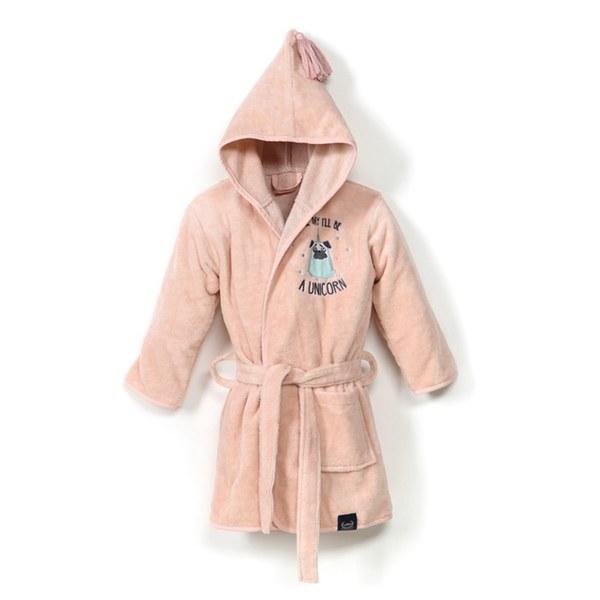 La Millou Jersey時尚篷篷睡袍浴袍_加大2.5-5Y- 小巴哥憂憂(夢幻珊瑚粉)