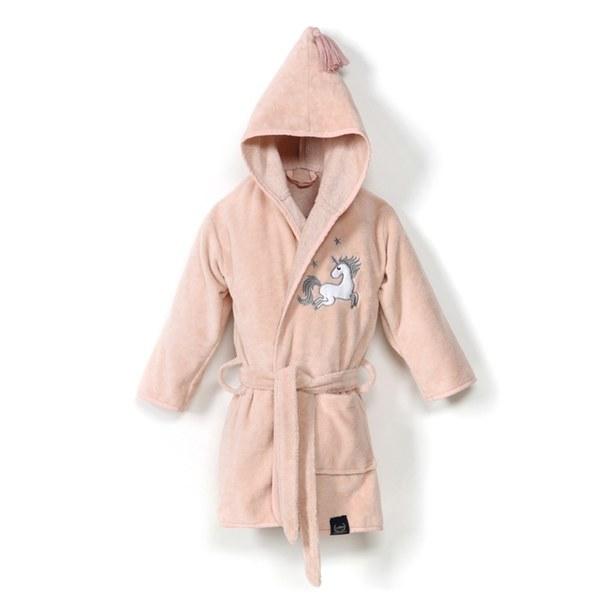 La Millou Jersey時尚篷篷睡袍浴袍_加大2.5-5Y- 公主獨角獸(夢幻珊瑚粉)