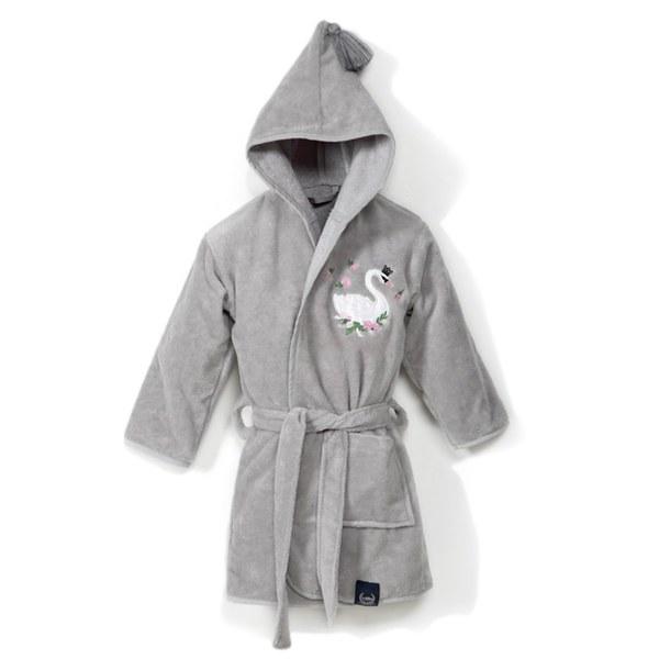 La Millou Jersey時尚篷篷睡袍浴袍_加大2.5-5Y- 芭蕾舞天鵝(銀河星空灰)