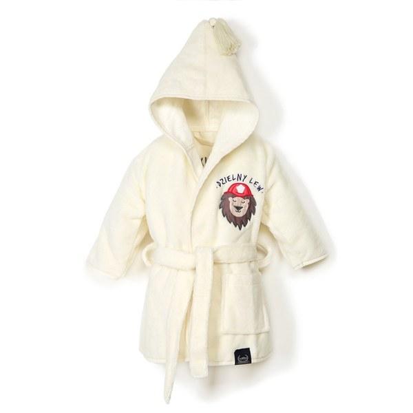 La Millou Jersey 時尚篷篷睡袍浴袍_標準6M-2.5Y- 打火小英雄(雲朵白)