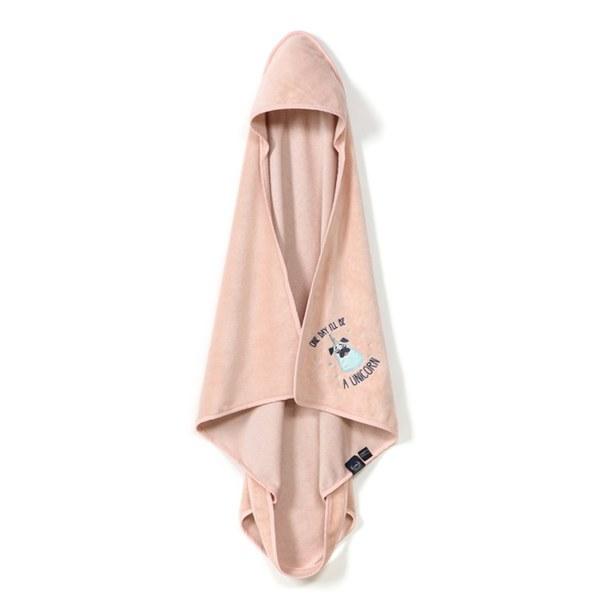 La Millou Jersey時尚浴巾_標準0-2Y- 小巴哥憂憂(夢幻珊瑚粉)