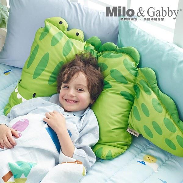 Milo & Gabby 動物好朋友-超細纖維防蟎大枕心+枕套組(ALBERT鱷魚)