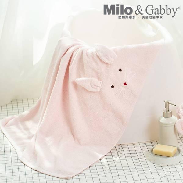 100%純棉吸濕毛巾_可愛大浴巾_85x120cm (LOLA兔兔)