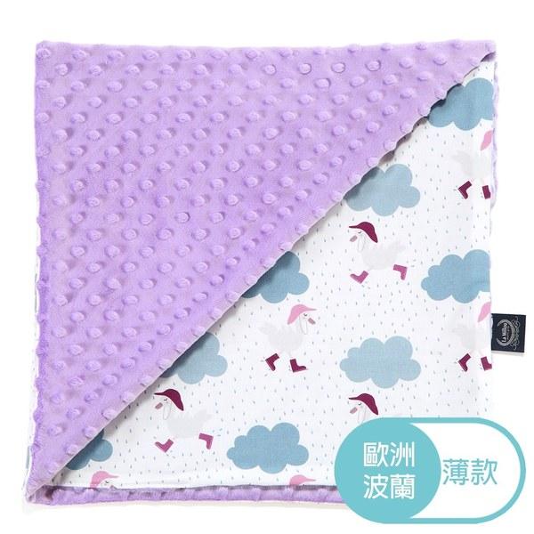 La Millou 單面巧柔豆豆毯-雨點達達鴨(粉紫馬卡龍)