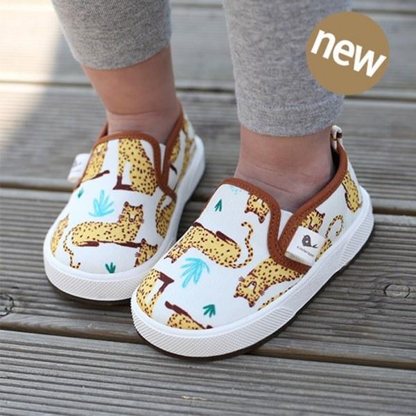 Kinderspel 街頭寶貝-正韓彈性舒適帆布鞋 (神氣大花貓)