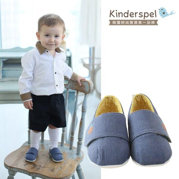 Kinderspel 輕柔細緻.棉花糖休閒學步鞋(皇家藍騎士)