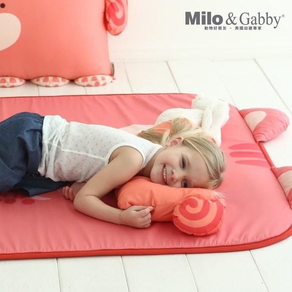 Milo&Gabby 動物好朋友-超舒柔防蟎抗菌床墊-遊戲墊(Lucy松鼠)