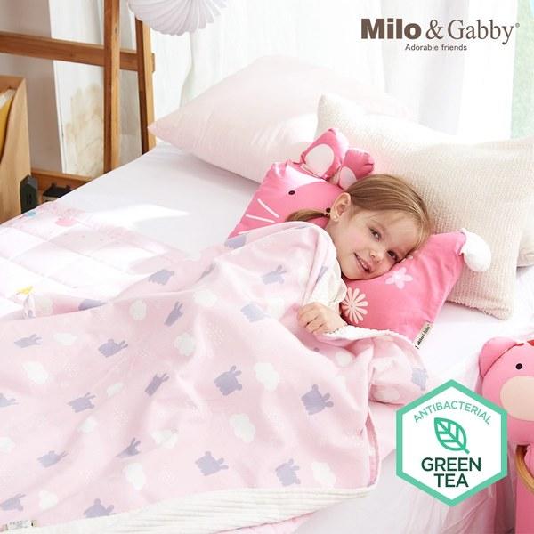 【此為預購商品預計5/25出貨】Milo & Gabby 動物好朋友-雙面寶寶棉蓋毯(LOLA影子)
