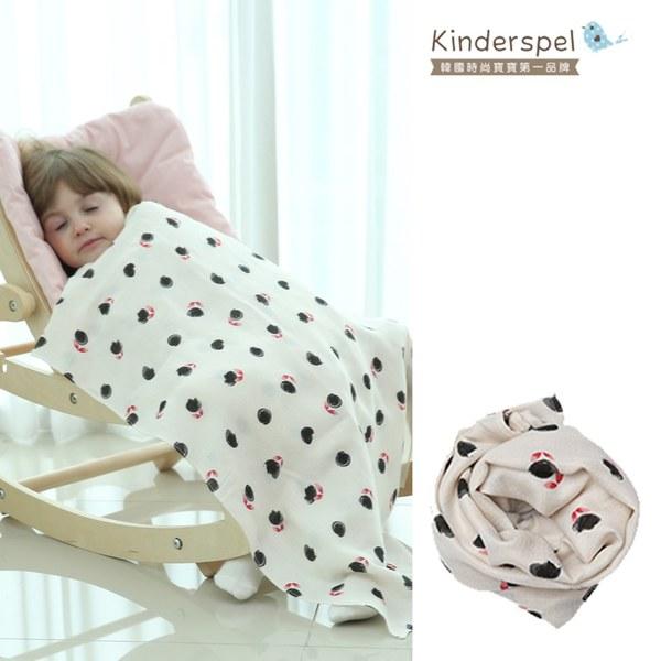 Kinderspel寶寶保暖柔軟圍巾(白玫瑰)