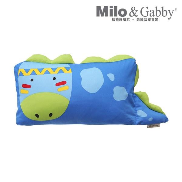 【此商品為預購品,於4/10起出貨】Milo & Gabby 動物好朋友-mini枕頭套(DYLAN印第安恐龍)