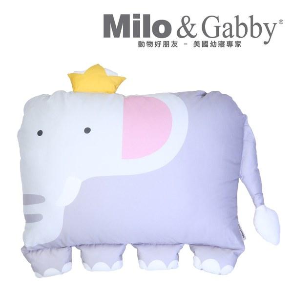 【此商品為預購品6/15出貨】Milo & Gabby 動物好朋友-大枕頭套(ELVIN大象)
