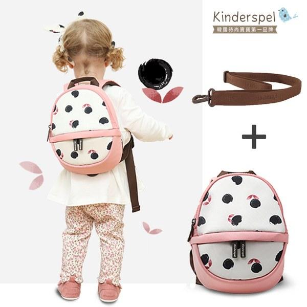Kinderspel 溜童行頭・蛋型防走失包 + 防走失繩(白玫瑰)