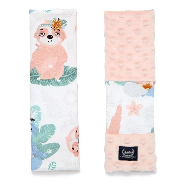 La Millou 安全帶保護套-瑜珈珈樹懶(粉嫩氣質膚)