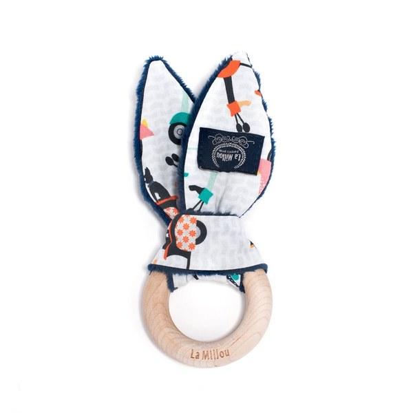La Millou 豆豆木環固齒器-法鬥噗噗車(勇氣海軍藍)