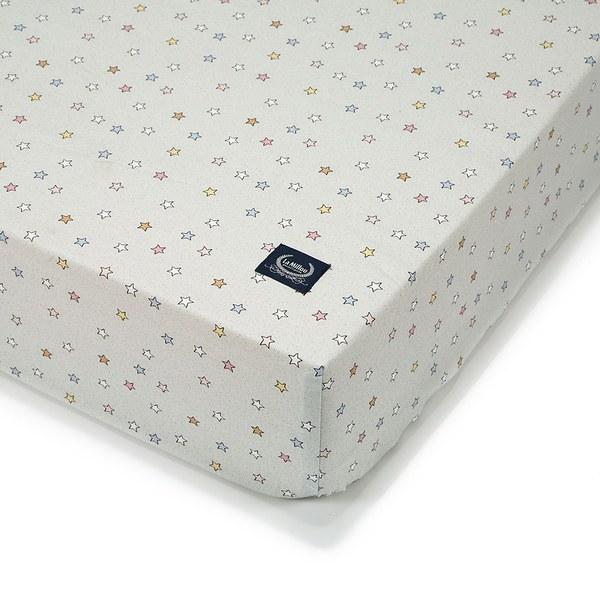 La Millou 拉米洛北歐風_嬰兒床單-旋轉小木馬(粉底)(70cmx140cm)